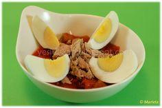 Yes, I Du-kan!: Ensalada de atún con pimientos y huevo duro