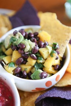 Black Bean, Mango and Avocado Salsa