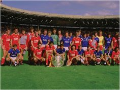 Hahnemuhle PHOTO RAG Fine Art Paper (other products available) - The two sides share the 1986 Charity Shield - Image supplied by Everton Football Club - Fine Art Print on Paper made in the UK Fine Art Prints, Framed Prints, Canvas Prints, Framed Wall, Fa Community Shield, Liverpool Team, Action Images, Professional Football, Everton