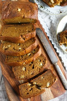 Pumpkin apple bread is a taste of Fall! Your house will smell amazing and these two gluten-free loaves will be devoured before the season is over!