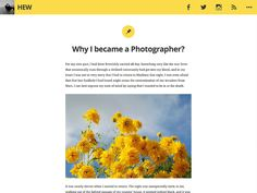 Hew is a personal blog theme.