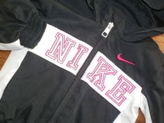 BABY infant GIRLS 12 mo NIKE 2pc TRACK jogging SUIT JACKET PANTS black pink #Nike #Everyday