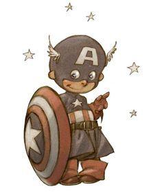 """""""Little Heroes"""", une série d'illustrations de bébés super-héros imaginés par le talentueux dessinateur français Alberto Varanda ! Dans la lignée de la série """"Baby Heroes par Skottie Young"""", découvrez Hulk, Batman, Robin, Thor, Wolverine, Spiderman et les autres super-héros retombés en enfance dans cette série adorable…"""