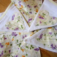 Bunting With Floral Hearts