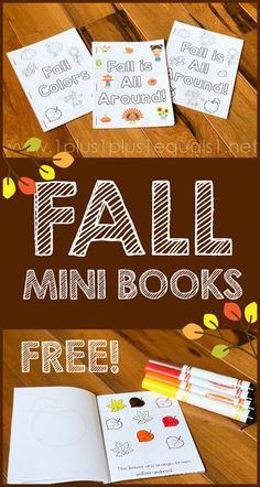 Fall Mini Books ~ Free Printable We have a fall freebie for you! A set of three mini books for you to print and enjoy with your young children. Mini books are a great way to expose early reading skills and practice reading during the Fall Preschool Activities, Free Preschool, Preschool Crafts, Preschool Fall Theme, Childcare Activities, Library Activities, Baby Activities, Preschool Printables, Learning Activities