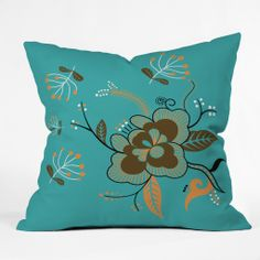 Coordinate your outdoor space with any throw pillow available in outdoor fabric!