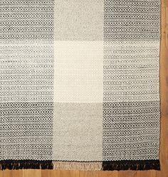 Plaid Flatweave Rug - | Rejuvenation, runner not right but 3x5 might work for walk through