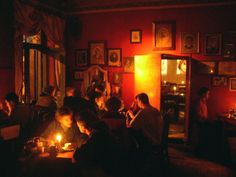 Alchemia, Krakow  awesome bar lit only by candlelight