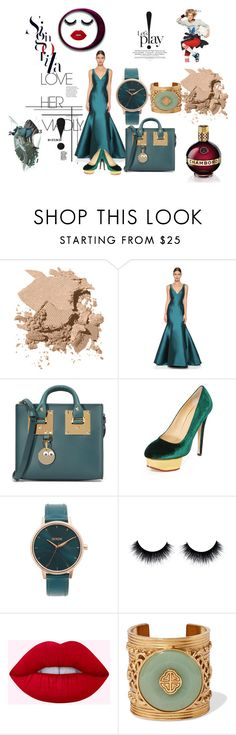 """Get The Look!!"" by stylediva20 on Polyvore featuring Bobbi Brown Cosmetics, Monique Lhuillier, Sophie Hulme, Charlotte Olympia, Nixon and Ben-Amun"