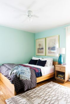 Paint colors that match this Apartment Therapy photo: SW 2927 Weathervane, SW 7082 Stunning Shade, SW 6345 Sumptuous Peach, SW 6241 Aleutian, SW 6470 Waterscape