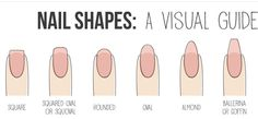 Different types of nail shapes!