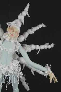 I'm going to use this doll as inspiration for the ballerina that I've been working on.