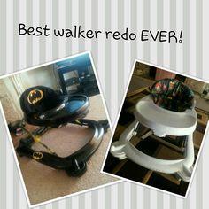 I redid my sons walker. In our house batman is a hit. Best walker on the block lol