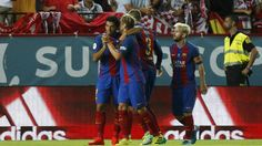 (Video) FC Barcelona ganó 2-0 al Sevilla en la ida de la Supercopa española