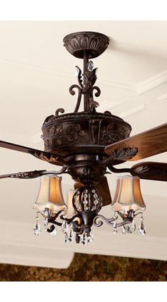 Horchow fan and chandelier Master bedroom
