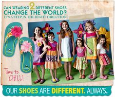 Chooze Shoes: My girls have these and we love them. They are different, cute and serve a good cause!