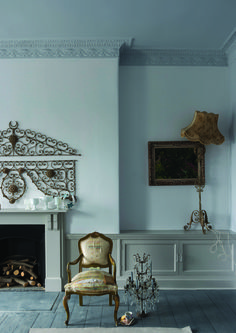 Walls: Farrow and Ball Wevet; Ceiling: Farrow and Ball Blackened; Woodwork: Farrow and Ball Purbeck Stone; Floor: Farrow and Ball Down Pipe Farrow Ball, Farrow And Ball Paint, Purbeck Stone, New Paint Colors, Wall Colors, Exterior Paint, Interior And Exterior, Gray Exterior, Furniture