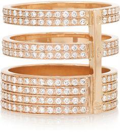 Repossi Berbère 18-karat rose gold diamond ring