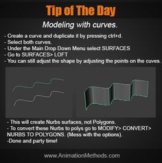 Modeling with curves in Maya Modeling Tips, 3d Tutorial, Maya, Sculpting, Curves, Surface, Sculpture, Maya Civilization, Sculptures