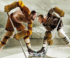 Bruins and Blackhawks: Old foes from long ago - The Boston Globe Blackhawks Game, Chicago Blackhawks, Hockey Games, Ice Hockey, Bruins Hockey, Hockey Posters, Hockey Logos, Ski Posters, Dont Poke The Bear