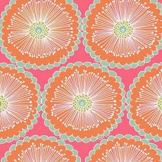 I'd like to make something similar from fabric--neat design/color combo: Stephanie Ryan orange blooms