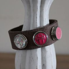 Armband bruin maat L, compleet