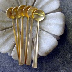 gold coffee spoons- need.