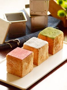 Japanese Bakery, Japanese Bread, Sweets Recipes, Cake Recipes, Croissant, Donuts, Cubes, Bread Bun, Different Cakes