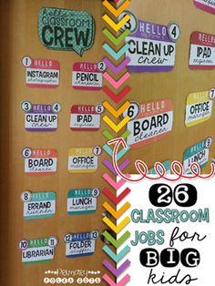 Classroom Jobs EDITABLE Classroom Decor