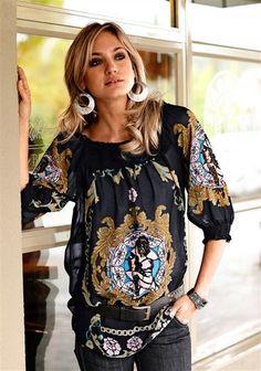 Bluse im Ornamentstil bei www.quelle.ch entdecken