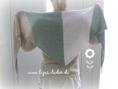"Handgestricktes Schultertuch aus Lana Grossa ""Linarte"" http://de.dawanda.com/product/79989463-Gestricktes-Schultertuch-aus-Leinen-und-Baumwolle"