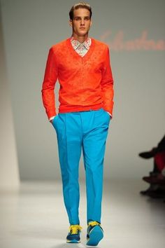 Love a man that is confident to wear color! make them look at you when crossing the street