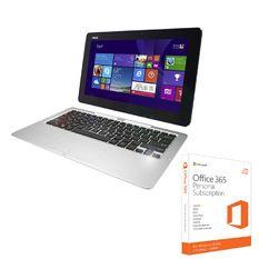 Bộ Laptop ASUS T200TA-CP001H Z3775 11.6 inch (Xanh) và Phần mềm office 365 bản quyền