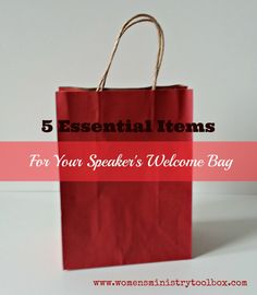 Five Essential Items for Your Speaker's Welcome Bag