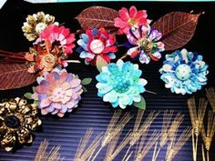 Sculptured Washi Paper Jewelry by Paper Demon - The Beading Gem's Journal