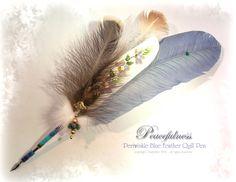 PEACEFULNESS Feather Quill Pen by ChaeyAhne.deviantart.com on @deviantART