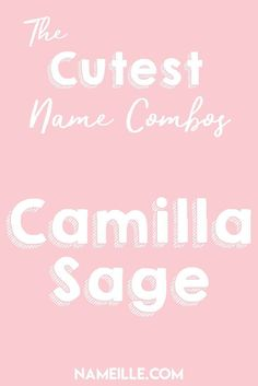 Cute First and Middle Name Combinations Camilla Sage I First & Middle Baby Name Combinations for Gir Cute Baby Girl Names, Cute Names, Boy Names, Double Girl Names, Middle Names For Girls, American Girl Doll Sets, Baby Nursery Decor, Unique Baby, Future Baby