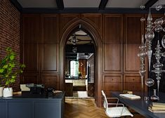 Gothic Office by Jessica Helgerson Interior Design in Portland.