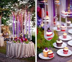 I just Love this for an outdoor party! I just Love this for an outdoor party! I just Love this for an outdoor party! Cupcake Party, Cupcake Tree, Wedding Cupcakes, Wedding Cake, Wedding Decor, Wedding Ideas, Wedding Venues, Dream Wedding, Deco Buffet