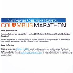 "jbuchta21: ""It's official! I will be running in my first marathon this fall in Columbus and so thrilled to be supporting Children's Hospital @cbusmarathon @nationwidekids #CMnation #crazy #runnn #home #marathon #Advocare #26point2"" New York, New York"