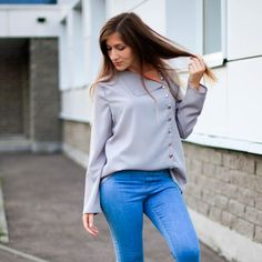 f6103a7839a Для женщин блузка рубашка с длинным рукавом корейская мода Новое  поступление осень 2018 г. женские
