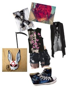 """""""Unknown #3"""" by kaylaisconfused ❤ liked on Polyvore featuring Firetrap, Abbey Dawn, Converse and Masquerade"""