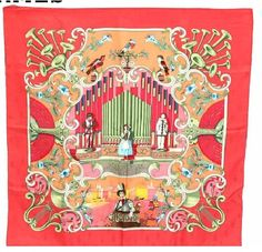 Hermes Scarf Shawl 100% Silk Carre 90 ORGAUPHONE NWT Auth #Hermes #Scarf