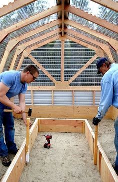 DIY Greenhouse! Also looks like a good chicken coop #chickencoopplanseasy