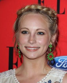Candace Accola rocking a braided updo at the ELLE Women in Music event - #hair