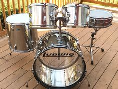 Ludwig Stainless Steel Big Beat Drum Set- Vintage 70s- RARE!