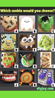 Halloween Cookie Recipes, Halloween Food For Party, Halloween Cookies, Holidays Halloween, Halloween Treats, Halloween Diy, Holiday Recipes, Happy Halloween, Halloween Stuff