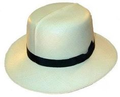 a334bd82 1920s Mens Hats - A common straw hat for summer was the Panama, in  particular