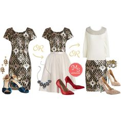Golden Opera-tunity Dress by modcloth on Polyvore featuring Betsey Johnson and Seychelles