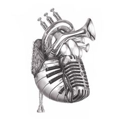 Heart of music from jake weidmann artist and master penman drawings of music, art of Music Tattoo Designs, Music Tattoos, Music Heart Tattoo, Musica Love, Musik Illustration, Heart Illustration, Mädchen Tattoo, Art Tumblr, Music Drawings